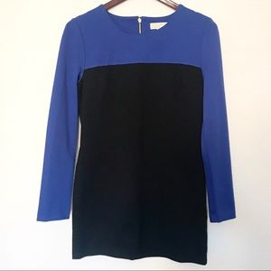 Michael Kors long sleeve dress color block design